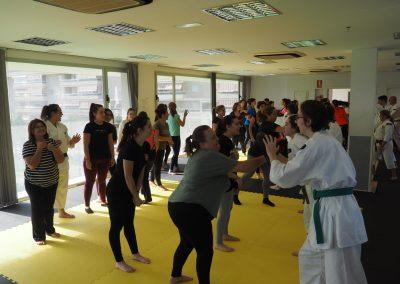 Fesk organiza 4 cursos de defensa personal femenina a traves de sus secciones oficiales sevilla linde, costa del sol ,biznaga y shokema.